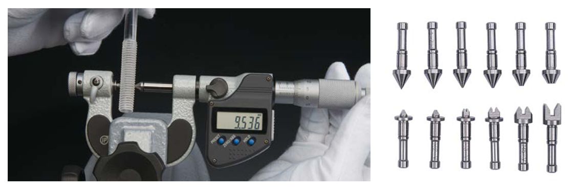 INTERCHANGEABLE TIP TYPE SCREW THREAD MICROMETER