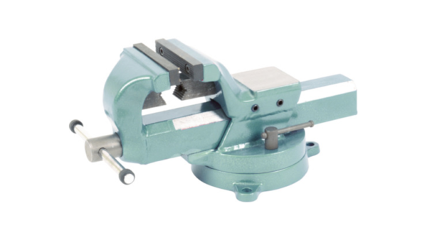 Lead vise with TRUSCO turntable (strong type, square body shaft) 100 mm