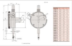 Dial Indicators Series 2 -ANSI/AGD Type Metric Dial Indicator